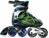 Fila Wizy  Verstelbare Inline Skate | Zwart/groen/blauw | 32-35
