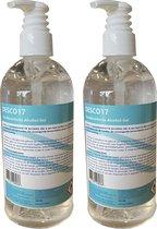 DESCO 17 Desinfectiegel 2 x 500ml CTGB gekeurd | Handalcohol - Desinfecterende Handgel