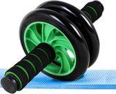 Ab Wheel - Met Gratis Knie-mat - Buikspierwiel - Ab Wheel Roller – Buikspier oefening  – Core Wheel – Core Trainen – Home Workout - Sixpack – Dubbel Trainingswiel - Groen