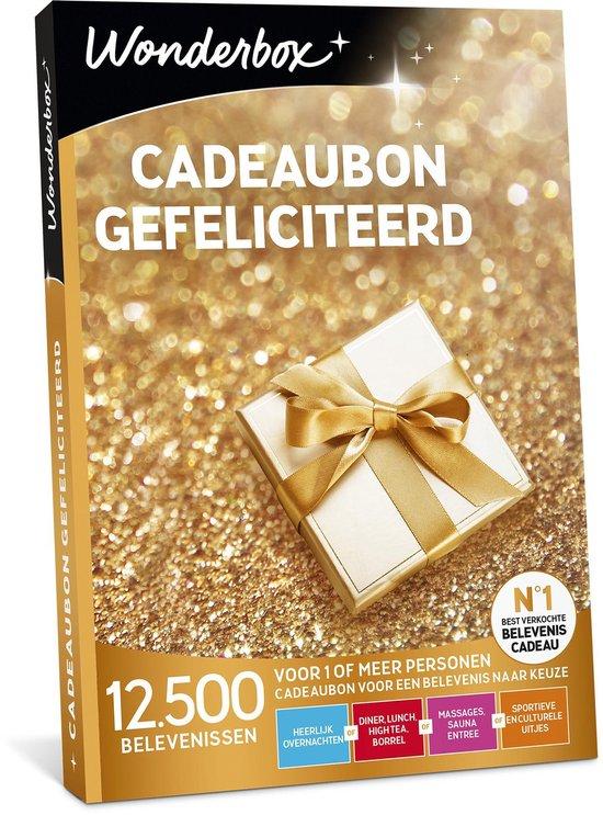 Wonderbox Cadeaubon - Gefeliciteerd!