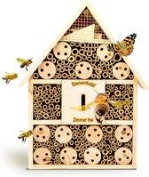 Bambuswald© Insectenhotel 19,5x10x37cm | Insectenhuis gemaakt van natuurlijke materialen - Bijenhotel met bescherming