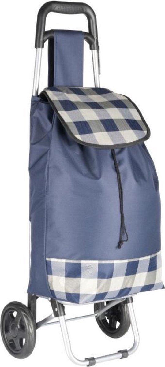 Tom Boodschappentrolley Dames 94 Cm Textiel/rvs Blauw