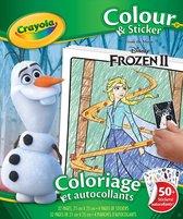 Frozen - kleur-sticker boek