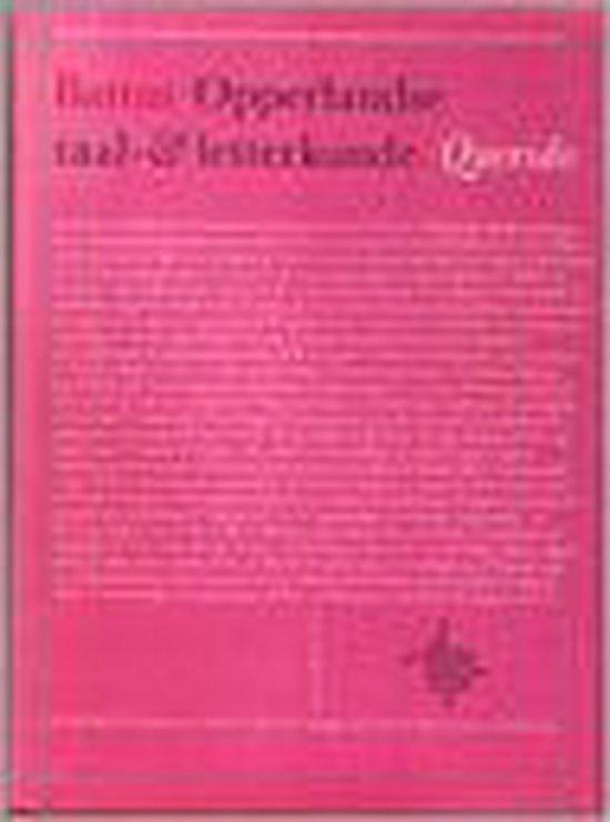Opperlandse taal en letterkunde - Battus |