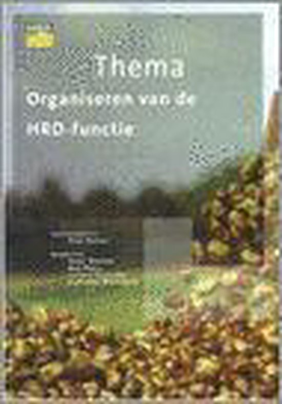 ORGANISEREN VAN DE HRD-FUNCTIE - none   Fthsonline.com