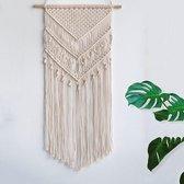 Macrame Wandkleed Bohemian - Katoen - 100x40 cm - Wandhanger | Macrame wanddecoratie | Macrame dromenvanger | Boho decoratie