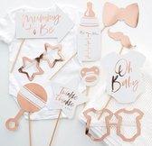 Photo Booth Props Baby Shower Rosé Goud - 10 stuks