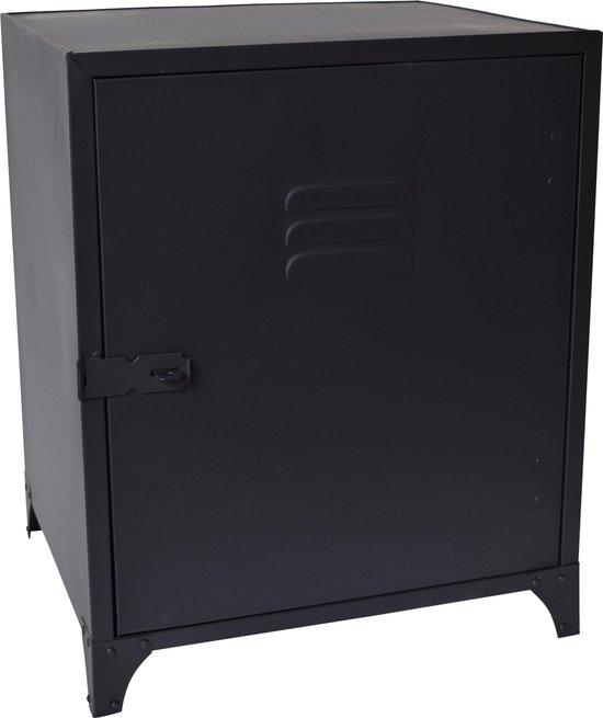 LOFT42 Locker Nachtkastje Zwart - Metaal - 40x50x36