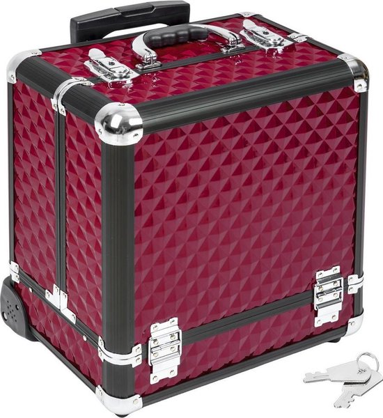 Cosmetica koffer trolley make-up beautycase 401443