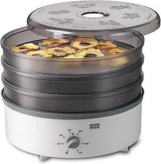 Stöckli Ovens Dehydrator Voedseldroger met 3 Metaal Roosters