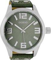 OOZOO Timepieces Polshorloge - C1011 - Groen - 51 mm