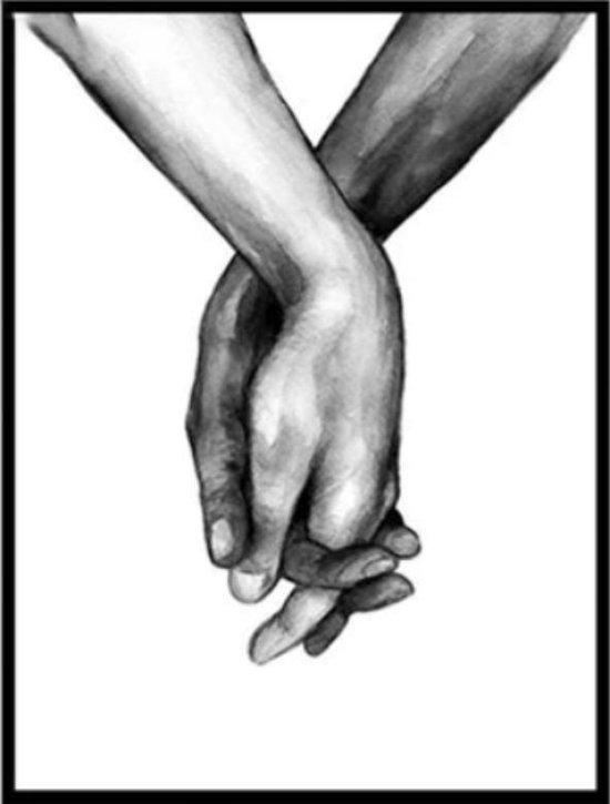 Wonderbaarlijk bol.com   Canvas Schilderij * Liefhebbende Handen Black & White AY-05