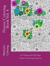 Flower Coloring Book Vol. 4