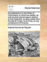 Considerations on the Order of Cincinnatus