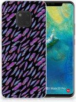 Huawei Mate 20 Pro TPU Hoesje Design Feathers Color