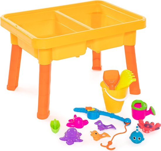 Zand en Watertafel Visspel 2in1 57x41x37 CM - Speeltafel