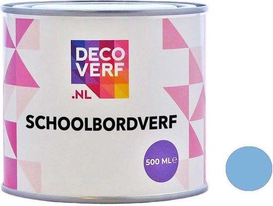Decoverf schoolbordverf lichtblauw, 500ml