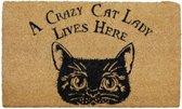 A crazy cat lady lives here Deurmat