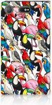 Sony Xperia XZ1 Compact Standcase Hoesje Birds