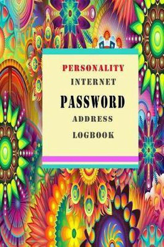 Personality Internet Password Address Log Book
