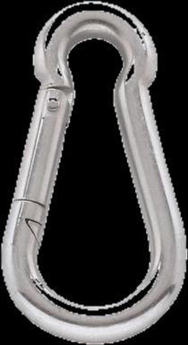 Stabiele karabijnhaak van verzinkt staat, 9 cm