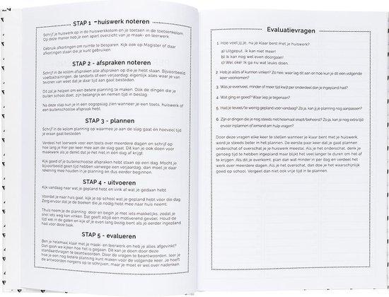 Plan & Huiswerk Agenda - Schoolagenda 2019-2020 - Hardcover - Wit - 7d/2p
