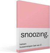 Snoozing - Katoen - Kussenslopen - Set van 2 - 40x60 cm - Roze