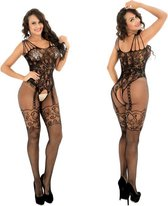 Body Pleasure - Super Strak - Sexy Lingerie Set - Uitdagende Body - Verpakt In Supergave Cadeaubox - One Size - Zwart