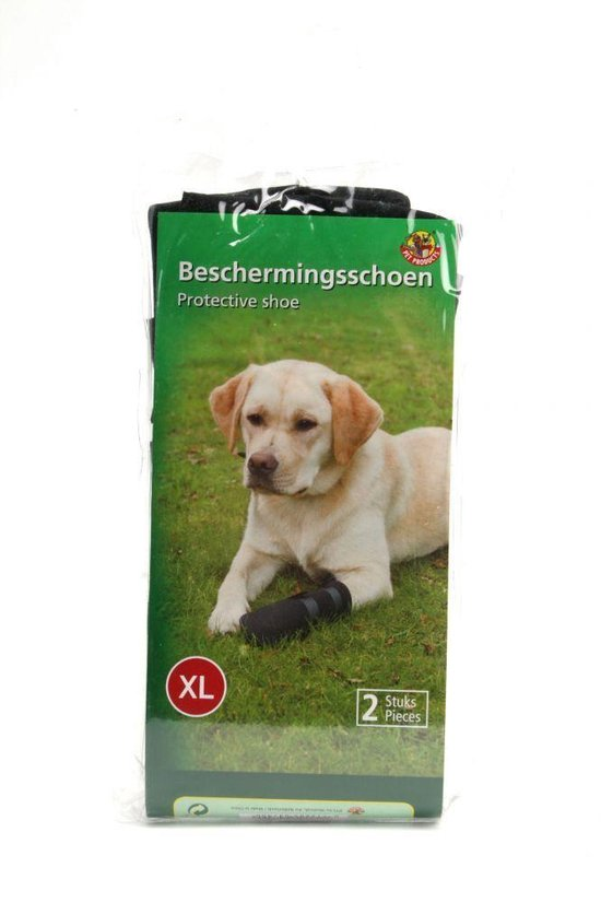 Beeztees Beschermingsschoen - Hond - Zwart - XL