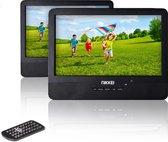 Nikkei NPD910T - Draagbare Auto DVD Speler met USB en 2 LCD-Schermen 9 inch