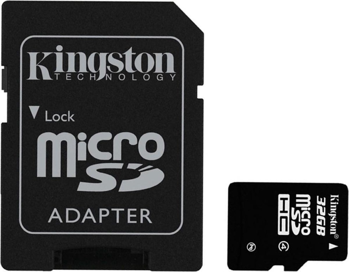 Kingston 32GB MicroSDHC-Geheugenkaart