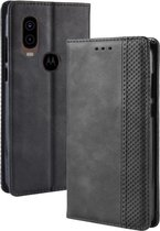 Motorola One Vision Hoesje - Book Case - Zwart