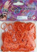 Bandjes Loom Bands 300 stuks: oranje (37110)