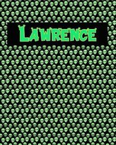 120 Page Handwriting Practice Book with Green Alien Cover Lawrence