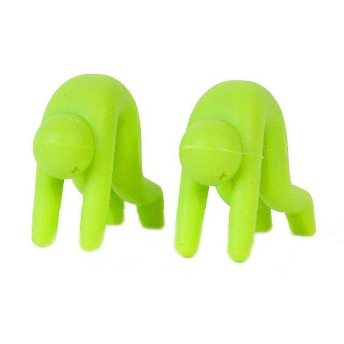 Dimm 2 x Dekselhouder Poppetje - Anti Overkoken - 2 Stuks - Groen