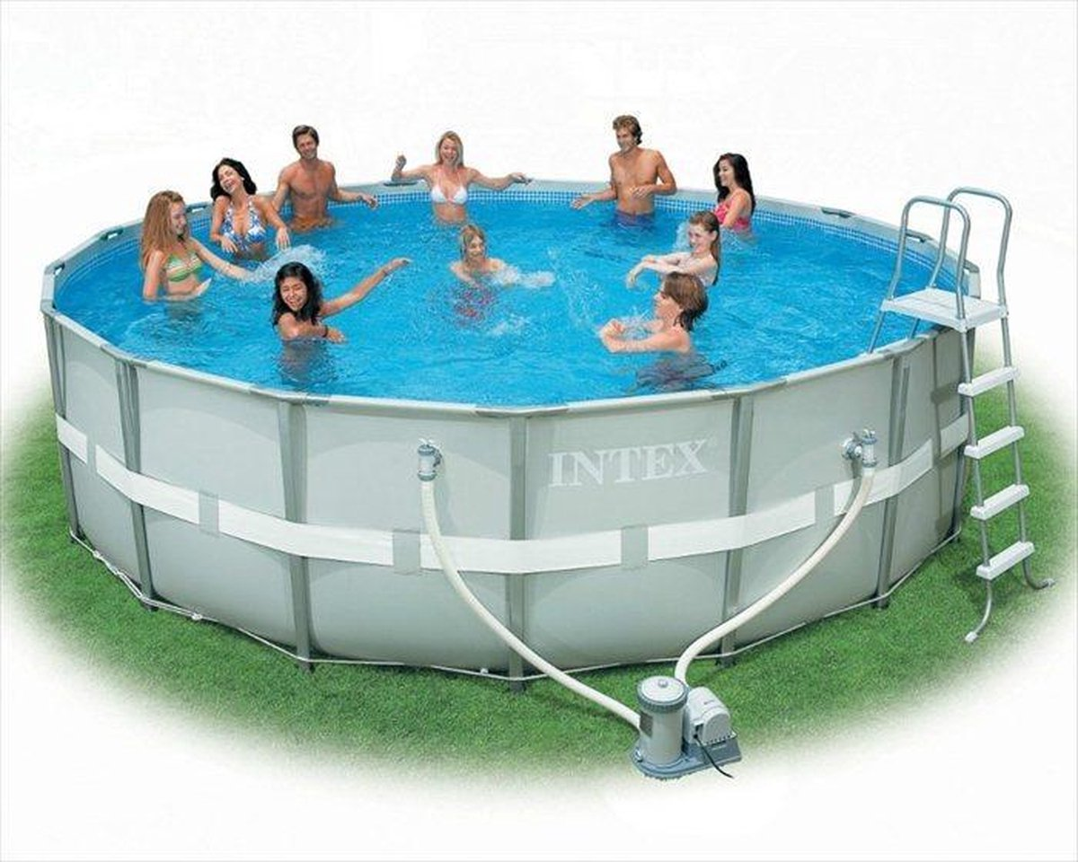 Intex Ultra Frame zwembad 488 x 122 cm-Met zandfilterpomp