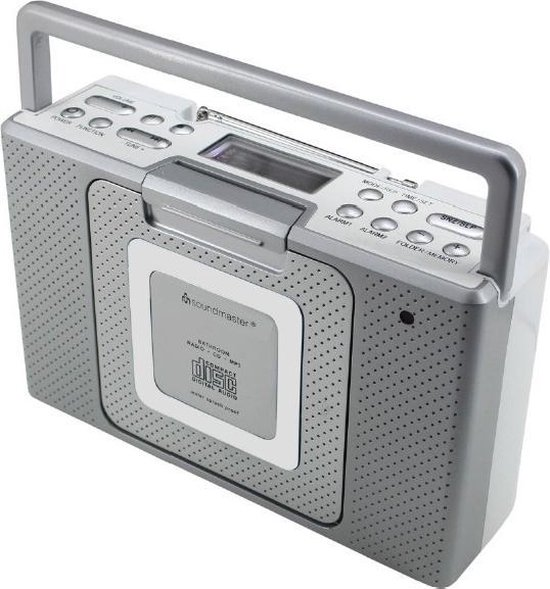 Soundmaster BCD480 Spatwaterdichte badkamer/keukenradio radio met CD en klok