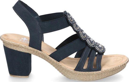 Rieker Dames Sandalen Blauw Maat 36