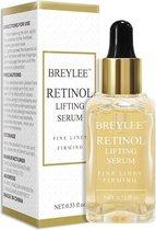 Breylee Actieve Retinol Serum - Met Vitamine E & Hyaluronzuur - Gezichtsserum - Collageen - Anti Aging - Celvernieuwing - Anti-Acne - Tegen Mee-eters en Grove Poriën - Tegen Pigmentvlekken