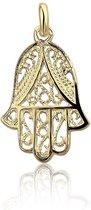 Montebello Hanger Hand van Fatima G - Dames - 925 Zilver Verguld - 15 x 25 mm