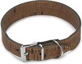 Beeztees Cork - Hondenhalsband - Leer - Bruin - 41-45 cm x 30 mm