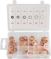 Ringenset koper 80-delig, assortimentsdoos met ringen 6,8,10,11,12 en 16mm, voor gebruik in electrische toepasssingen voor optimale geleiding