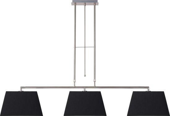 Quira hanglamp, 3 taps toelopende lampenkappen