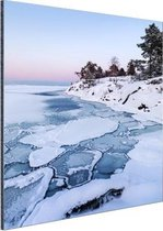 Bevroren zee Aluminium 80x120 cm - Foto print op Aluminium (metaal wanddecoratie) / Zee en Strand