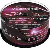 MediaRange CD-R 700MB/80min Printable 52x Cake 50