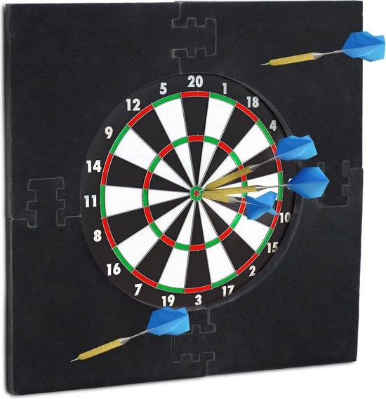 relaxdays dartbord surround ring - beschermrand - beschermring - ring voor dartbord - 45cm zwart