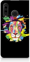 Huawei P30 Lite Uniek Standcase Hoesje Lion Color