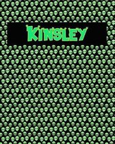 120 Page Handwriting Practice Book with Green Alien Cover Kinsley