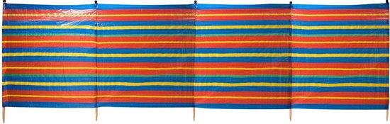 Abbey Camp Windscherm PE - 4 Meter - Blauw/Rood/Geel