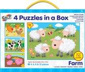 Galt - 4 Puzzels in een doos - Boerderij